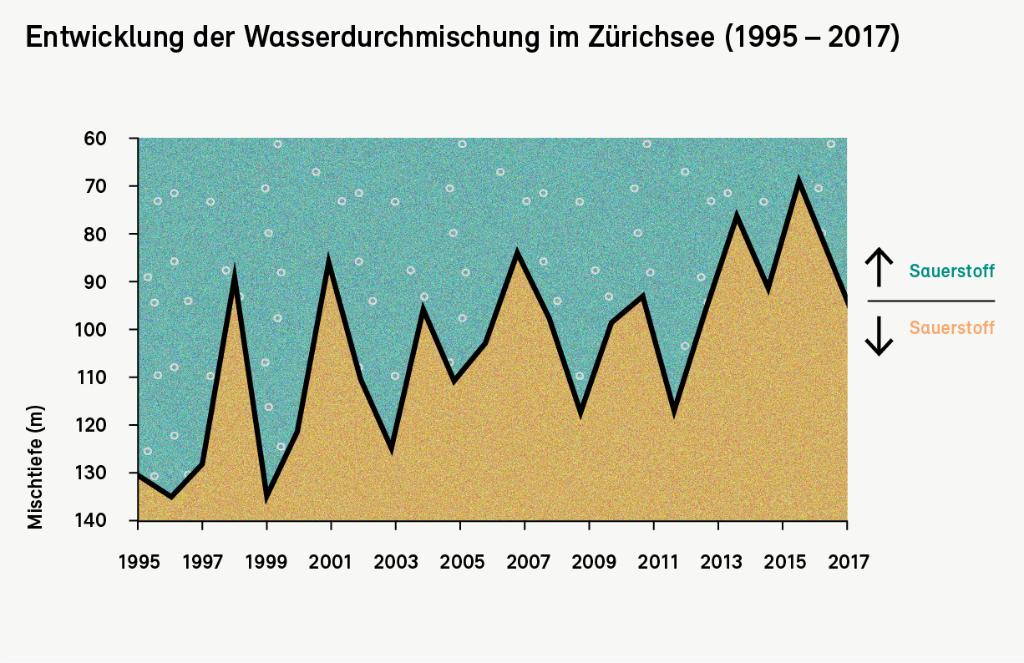 Entwicklung der Wasserdurchmischung im Zürichsee