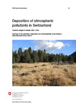 Cover Deposition of atmospheric pollutants in Switzerland (Summary)