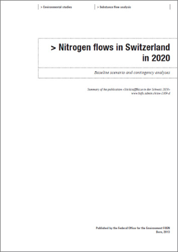 Cover Nitrogen flows in Switzerland in 2020 (Summary)