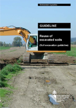 Cover Guideline. Reuse of excavated soils (Soil excavation guideline). 2001. 20 p.