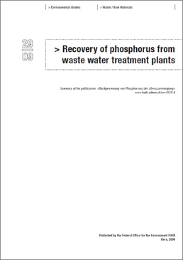 Cover Recovery of phosphorus from waste water treatment plants (Summary)
