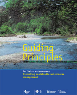 Cover Guiding principles for Swiss watercources. Promoting sustainable watercourse management. 2003. 12 p.