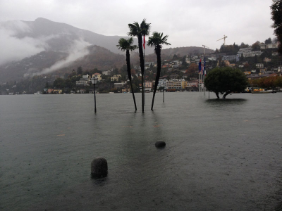 Crue du lac Majeur, le 15 novembre 2014 (photo : David Volken, OFEV).