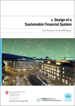 Cover Design of a Sustainable Financial System